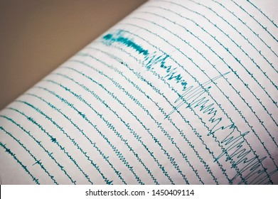 Seismograph Record of an Earthquake