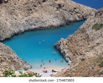 Seitan Limani, magnificent beach in Chania, Greece, the island of Crete