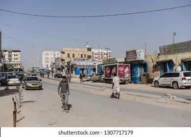 SEIYUN, YEMEN, JANUARY 26, 2019: General view of Seiyun city in Yemen.