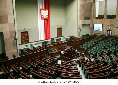 Sejm of the Republic of Poland - main hall.