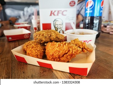 SELANGOR, MALAYSIA - 20 April, 2019: Kentucky Fried Chicken (KFC) restaurant. KFC is a fast food restaurant chain that specializes in fried chicken.