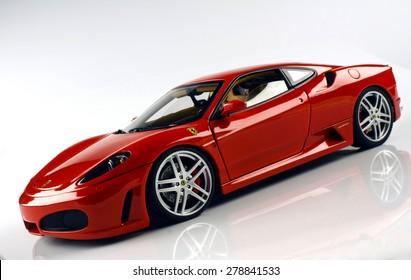 Selangor, Malaysia - April 3, 2012: A Ferrari F430 model in a studio.