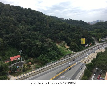 Selangor, Malaysia. Feb 12, 2017. They say life is a highway and we all travel our own roads, some good, some bad, yet each is a blessing of its own. One of Malaysia intown highway.