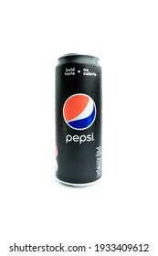 Selangor, Malaysia - February 22, 2021 - A can of Pepsi soft drink. Pepsi is a carbonated soft drink produced and manufactured by PepsiCo Inc. an American multinational food and beverage company