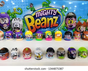 Selangor, Malaysia - March 2019 : Mighty Beanz toy display for sale in Toy R Us store - Image