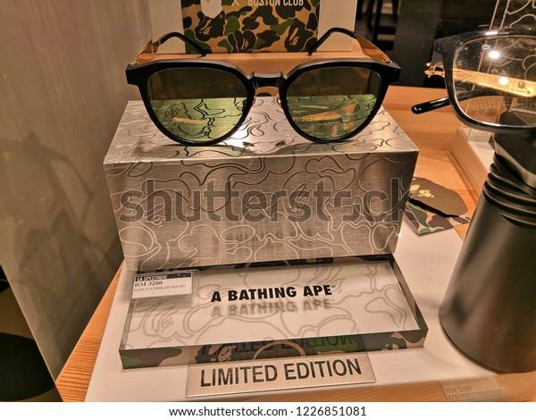 cff43655 Selangor, Malaysia- November, 2018: Bape sunglasses store in shopping mall . A