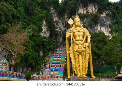 SELANGOR, MALAYSIA, November 2018, Tourist at Batu caves in Selangor, Malaysia