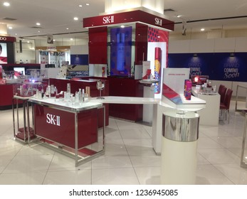 Selangor, MALAYSIA - November 21, 2018: SK-II Pitera Premium Skin Care booth in  Shopping Mall. SK-II is a Japanese prestige beauty brand, launched in 1980.