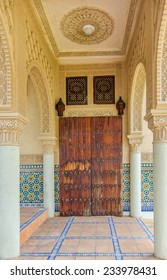 Selangor, Malaysia- October 5, 2014:Moroccan Architecture in Moroccan Pavilion Putrajaya Malaysia