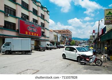 SELANGOR, MALAYSIA - SEPTEMBER 6, 2017: A view of Rawang Old Town