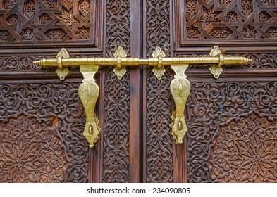 Selangor,Malaysia - October 5, 2014: Details of Moroccan door in Morocco Pavilion Putrajaya Malaysia
