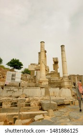 """""""Selcuk, Turkey- Circa August, 2019: A leftover ruin structure of Greek City Ephesus during weekend."""""""