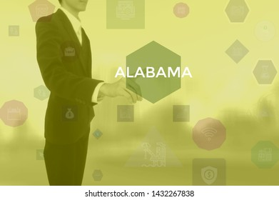 select ALABAMA - technology and business concept