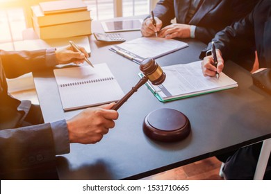 select focus,Attorneys or legal counsel is consulting the client about the dispute in order to have the case settled correctly in the courtroom. Concept of obtaining counsel from Attorneys