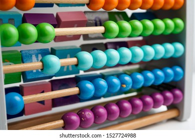 select focus,color and texture of abacus