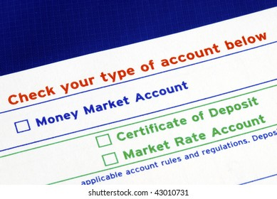 Select your bank account in the deposit slip