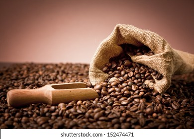 selected coffee beans