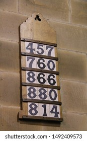 The Selected Hymn Numbers for a Church Service.