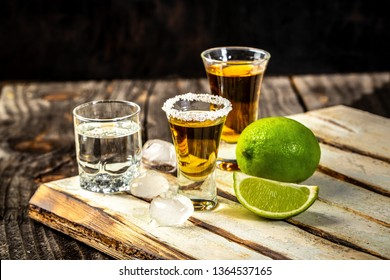Selection of alcoholic drinks on rustic wood background. space for text. concept luxury drink.