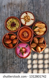 A selection of arabic/oriental side dishes