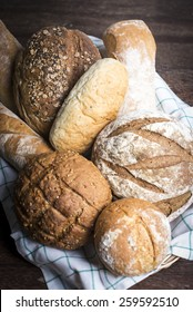 a selection of artisan breads