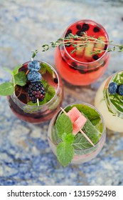 selection of cocktails