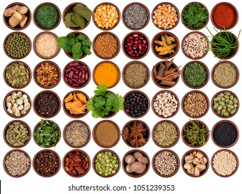 Selection of cooking ingredients to add flavor and seasoning.