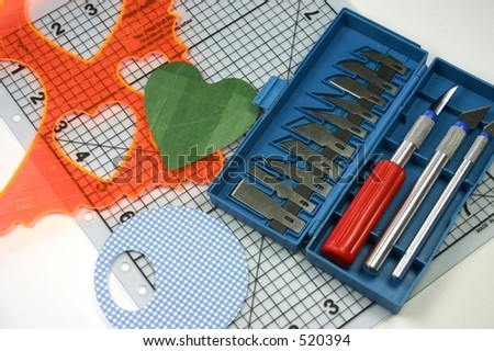 Selection Craft Cutting Tools Used Card Stock Photo Edit Now