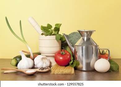selection of different fresh vegetables