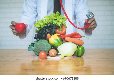 a selection of fresh vegetables for a heart healthy diet as recommended by doctors and medical professionals