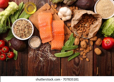 selection of health food