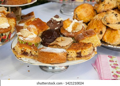 Selection of homemade cakes and scones