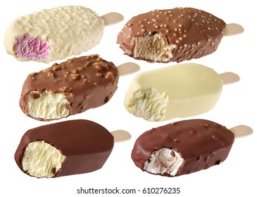 SELECTION OF ICE CREAM BARS CUT OUT