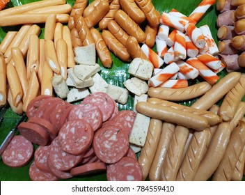 A selection of meats and sausages