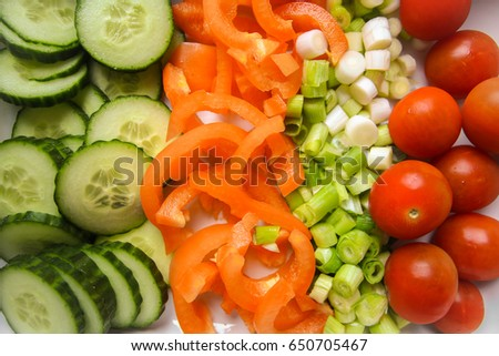 selection sald vegetables stock photo edit now 650705467
