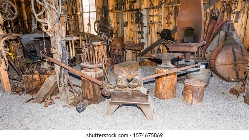 Selection of tools in blacksmith's shop