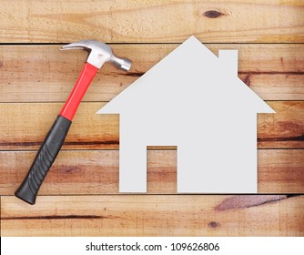 Selection of tools in the shape of a house