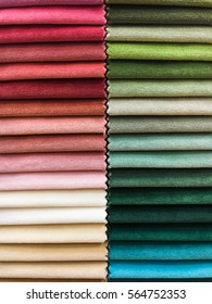 A selection of vibrant fabrics as a background