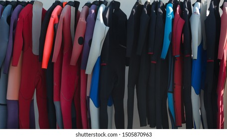 A Selection of Wetsuits - various colours