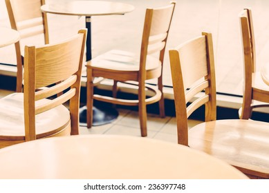 Selective chair in coffee shop - vintage effect style pictures