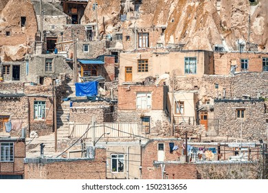 selective focus, 23/05/2019 Kandovan, Iran, close up view on yard of traditional Iranian ancient cave village of troglodyte in Kandovan in East Azerbaijan Province. Iran. near Tabriz city.