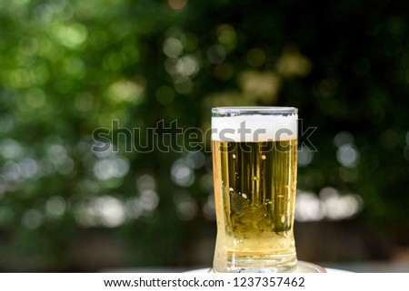 Selective Focus Bubble Beer Glass On Stock Photo Edit Now