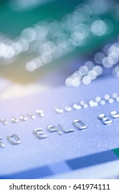 Selective focus Credit card or Debit card for background.
