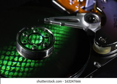 Selective focus encrypted hard disk with reflected letters