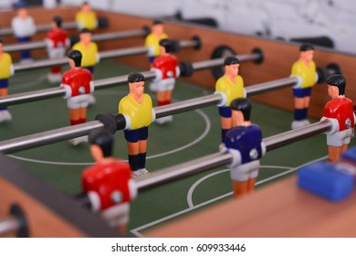 Selective Focus of Football Table