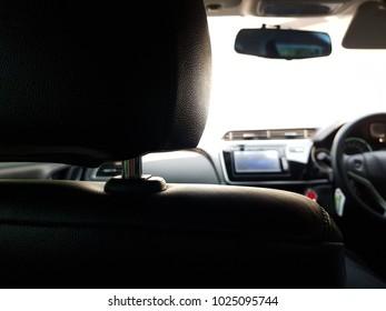 Selective focus for interior of a car