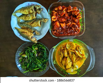 Selective focus Malay cuisine is the cooking tradition of etnic Malays of Southeast Asia