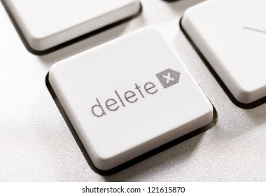 Selective focus on the delete button