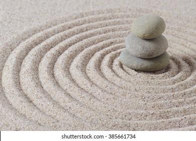 Selective focus if stacked stones with Zen like mood