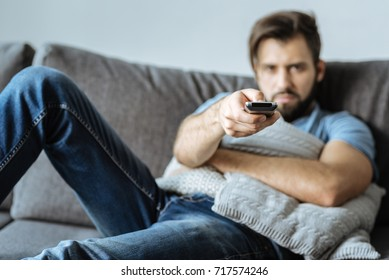Selective focus of a TV remote control